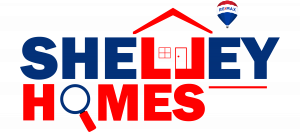 Shelley Homes - Logo - Blue & Red text - Transparent BG - 2